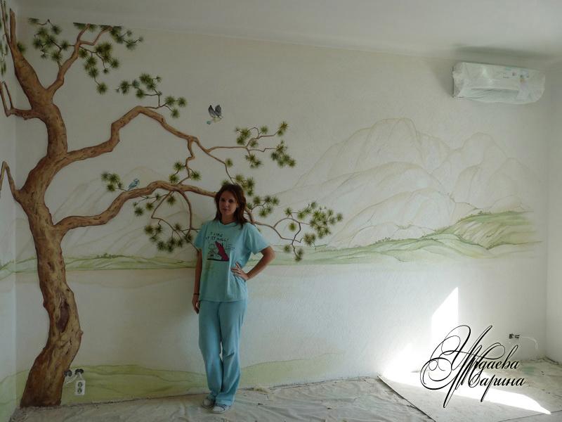 Дерево на стене из папье-маше своими руками 45